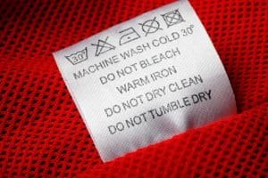 Laundry Instructions Care Label